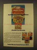 1976 Duncan Hines Moist & Easy Snack Cake Mix Ad