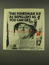 1976 Sportsmate II Insect Repellent Ad - This Fisherman