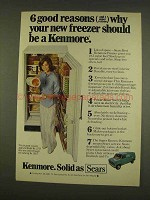 1976 Kenmore Freezer Model No. 2757 Ad - Good Reasons