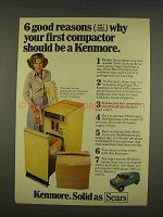 1976 Kenmore Compactor No. 46906 Ad - Good Reasons