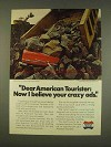 1976 American Tourister Luggage Ad - Believe Crazy Ads