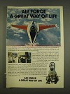 1976 U.S. Air Force Ad - Great Way of Life