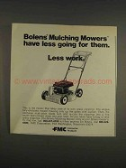 1976 FMC Bolens Mulching Mower Ad - Less Going For Them