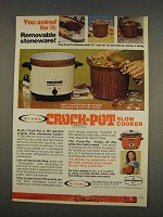 1976 Rival Crock-Pot Slow Cooker Ad - You Asked For It