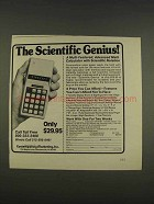 1976 Commodore SR7919D Calculator Ad - Genius