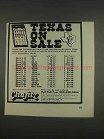 1976 Chafitz Texas Instruments Calculators Ad