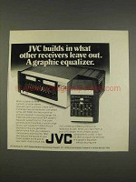 1976 JVC S300 Receiver Ad - Builds In Others Leave Out