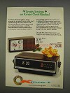 1976 Kmart Model 30-01 and 30-16 Clock Radios Ad