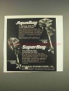 1976 AquaBug and SuperBug Outboard Motors Ad