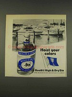 1976 Booth's High & Dry Gin Ad - Hoist Your Colors