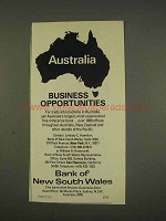 1976 Bank of New South Wales Ad, Business Opportunities
