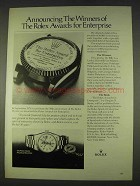 1978 Rolex Oyster Perpetual Day-Date Watch Ad - Winners