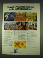 1978 Singapore Tourism Ad - Unsurpassable Hotel