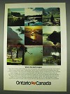 1978 Ontario Canada Ad - Where the North Begins