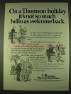 1978 Thomson Summer Holidays Ad - Welcome Back