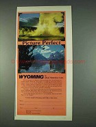 1978 Wyoming Travel Commission Ad - Picture Perfect
