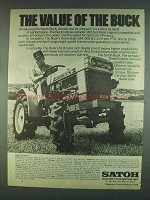 1978 Satoh Buck Tractor Ad - Value of the Buck