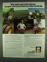 1978 Monsanto Lasso Herbicide Ad - Corn and Soybean