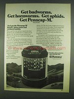 1978 Pennwalt Penncap-M Insecticide Ad - Get Budworms