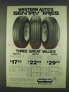 1978 Western Auto Bias-Ply, Belted Sentry Tires Ad