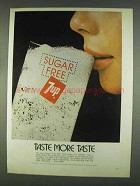 1978 Sugar Free 7up Soda Ad - Taste More Taste