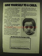1978 Christian Children's Fund Ad - Give Yourself
