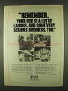 1978 USO United Service Organization Ad - Remember