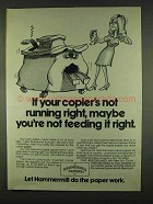 1978 Hammermill Papers Ad - If Copier's Not Right