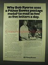 1978 Pitney Bowes Postage Meter Ad - Bob Ryerse