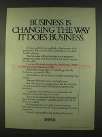 1978 Xerox Copiers Ad - Business is Changing the Way