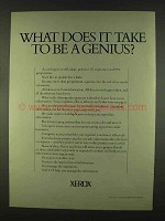 1978 Xerox Copiers Ad - What Does it Take to Be Genius