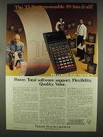 1978 Texas Instruments TI Programmable 59 Calculator Ad