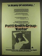 1978 Patti Smith Group Easter Album Ad - Litany Ecstasy