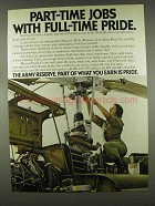 1978 U.S. Army Reserve Ad - Full-Time Pride