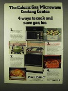 1978 Caloric RKP 399 Gas/Microwave Cooking Center Ad