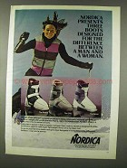 1978 Nordica Ski Boot Ad - The Breeze, Elite, Venus