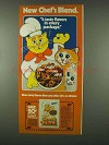 1978 Friskies Chef's Blend Ad - 4 Tasty Flavors