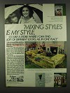 1978 Ethan Allen Galleries Ad - Mixing Styles