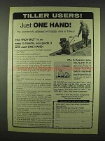 1978 Troy-Bilt Roto Tiller Ad - Just One Hand