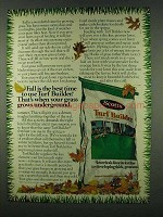 1978 Scotts Turf Builder Ad - Fall is Best Time