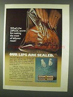 1978 Ziploc Bags Ad - What's The Secret