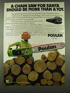 1978 Poulan Super Micro XXV Chain Saw Ad - For Santa