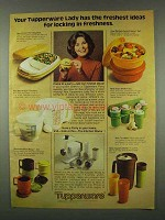 1978 Tupperware Ad - Divided Serving Dish; Mix-N-Stor
