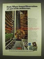1978 Hyatt Hotels & American Express Ad - Assured