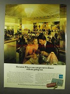 1978 Sheraton Hotel & American Express Ad - Dinner