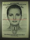 1978 Dorothy Gray Soft Color Glow Ad - Basic Formula