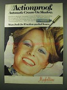 1978 Maybelline Cream-On Shadow Ad - Actionproof