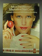 1978 Maybelline Nail Color Ad - The Winner