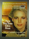 1978 Maybelline Two Tone Ultra Frost Ad - Gold