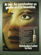 1978 Coty Softshadow Lotion Ad - Gentle Beautiful